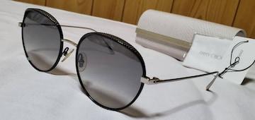正規レア ジミーチュウ ティアドロップ スパイクスタッズメタルサングラス 黒×エンブレムロゴ