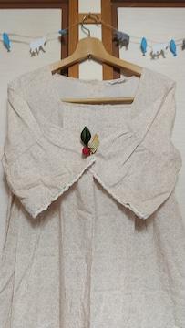Sm2 小花柄ベル袖ワンピース 六分袖