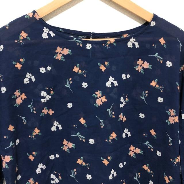 花柄 薄手ブラウス シャツ