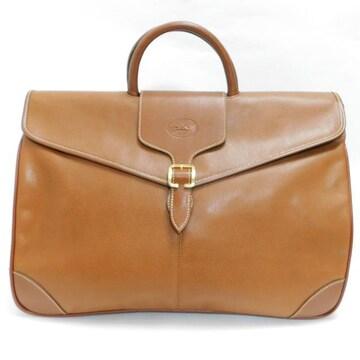 Longchampロンシャン ハンドバッグ レザー 茶 良品 正規品