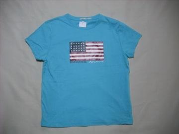 46 女 ラルフローレン ポロジーンズ 青 半袖Tシャツ M