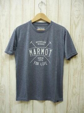 即決☆マーモット特価 アーチ半袖Tシャツ NV/Lサイズ 速乾