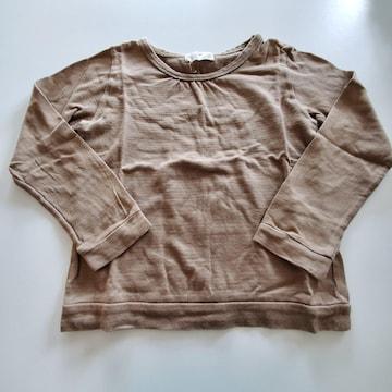 うす茶色無地長袖Tシャツ120