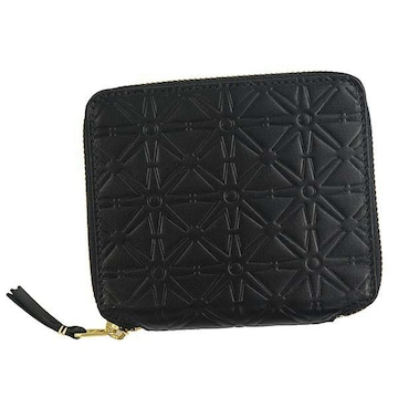 ◆新品本物◆コムデギャルソン EMBOSS 2つ折財布(BK)『SA210E』◆