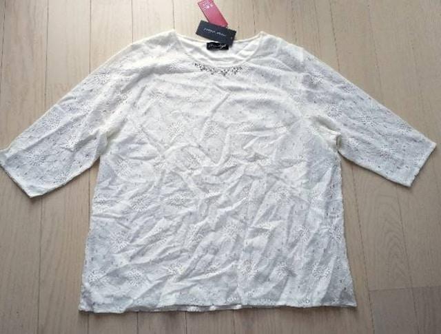 3L★image island★レース★ビジュートップス★新品★大きいサイズ  < 女性ファッションの