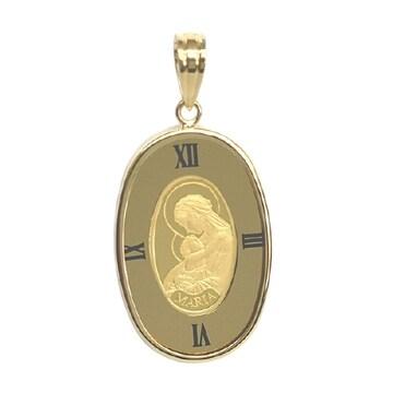 【新品未使用】K24 ペンダント マリアコイン ゴールド