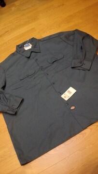Dickiesディッキーズ長袖ワークシャツ チャコールグレーサイズ3XL 4XL位
