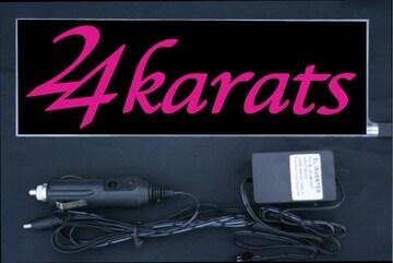 光る プレート 『24karats』 EL発光ピンク EXILE エグザイル