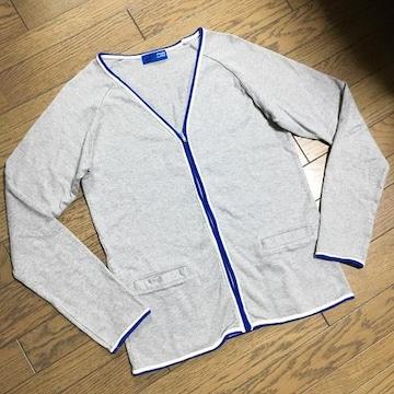 美品BEAMS スウェットカーディガン 日本製 ビームス
