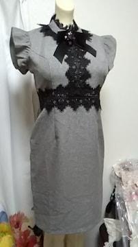 (マ)Lux・グレー高級ナイトドレス