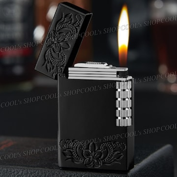 K プルメリア ハワイアンジュエリー フリントガスライター 黒