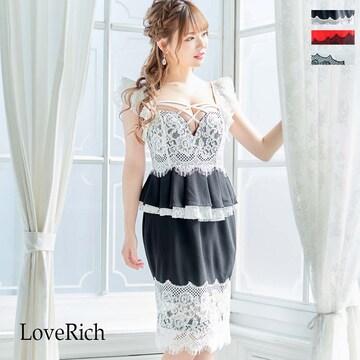 上品 贅沢レース ミニドレス キャバドレス チャムドレス