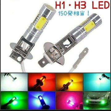 鬼爆!5COBH1・ H3 無極性 LED フォグ ヒートシンク+レンズ 2個
