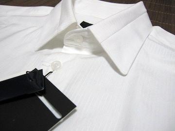 □ZARA/ザラ ドレスシャツ/ビジネスシャツ/スリムフィット・メンズS/ホワイト☆新品