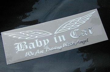 BabyinCar/WeAreDrivingWithAngel/ステッカー(oeシルバーミラー