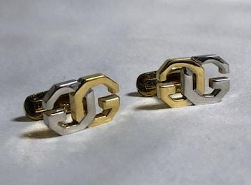 正規良 ジバンシィGIVENCHY GGロゴコンビカラーカフス 金×銀 ダブルGボタン