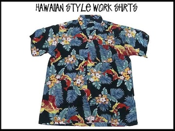 新品 アロハ・ハワイアンスタイル S/S半袖シャツ (XL)#209