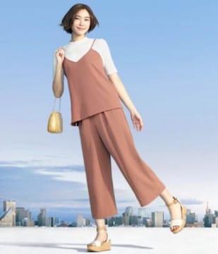 新垣結衣 CM着用 ユニクロ ドレープキャミソール ホワイト M