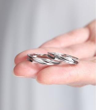 ☆指輪 ペアリング シンプル☆フリーサイズ