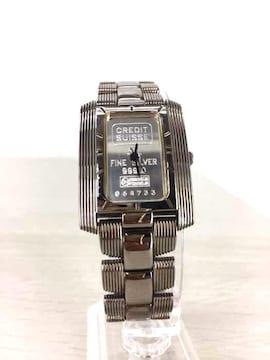 credit suisse(クレディスイス)FINE SILVER INGOTクオーツ腕時計