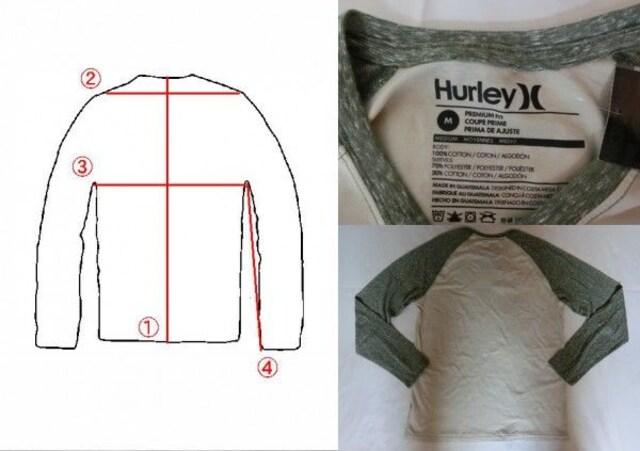 【Hurley】ソフト素材【PREMIUM FIT】ラグランロングT US M緑系 < ブランドの
