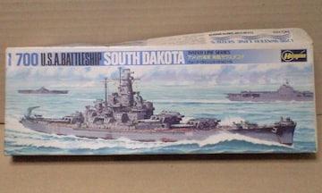 1/700 ハセガワ アメリカ海軍 戦艦 サウスダコタ
