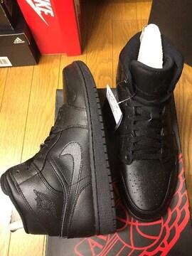 新品! ナイキ エアジョーダン1 黒 28.5 Nike AIRJORDAN1