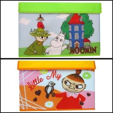 【ムーミン】蓋付き収納BOX 2種セット (新品タグ付)