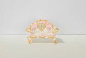ビーズ☆ハンドメイド☆小さい長椅子☆