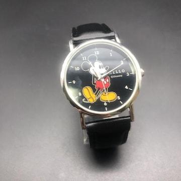 即決 Disney ディズニー ミッキーマウス HELLO 腕時計