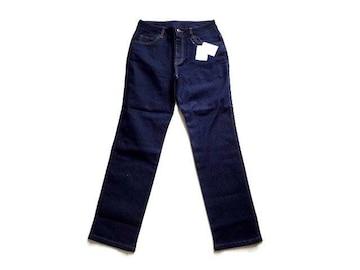 新品 ARRONDI デニム パンツ 紺 ジーンズ L 69-77 ストレート