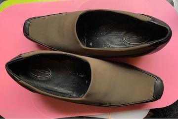 one mile 靴 サイズ 24。緑色 ヒール4cm