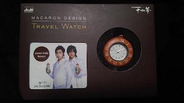 ■非売品■KinKi Kids シリアルナンバー入り トラベルウォッチ マカロン ネックレス 茶