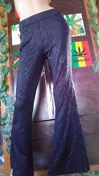 大きいサイズ†LL,3L♪両サイド編み上げジャガードゼブラパンツ