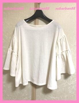 アースミュージック&エコロジー☆超美品フリル袖フレアトップス