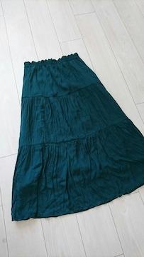 ウエストゴムのロングスカート サイズM