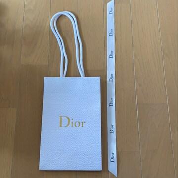 Diorショップバッグ紙袋&ディオールリボン/正規品