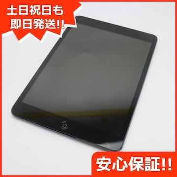 ●美品●au iPad mini Wi-Fi+cellular16GB ブラック●
