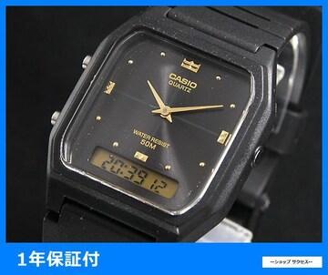 新品 即買い■カシオ アナデジ 腕時計 AW48HE-1A ブラック