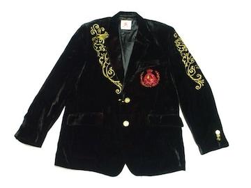 新品Kanji★刺繍ベロアテーラードジャケット★ブラック3XLオーバーサイズ