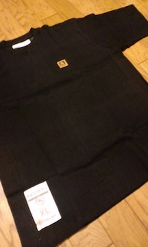 RASTARS☆ワンポイント半袖Tシャツ ワッフル素材 sizeXL→2XL 黒