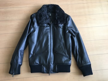 ショップオリジナル ボア襟レザーライダースジャケット 非売品