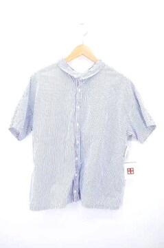 nest Robe(ネストローブ)ストライプ柄 半袖シャツシャツ・ブラウス
