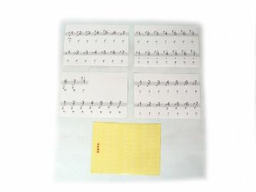 ピアノ・電子ピアノ鍵盤シール ・鍵盤ステッカー ・88キー対応