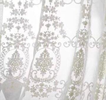 新生活 上品ホワイト刺繍 レースカーテン