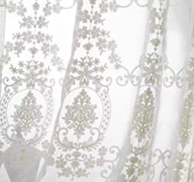 新生活 上品ホワイト刺繍 レースカーテン  < インテリア/ライフの