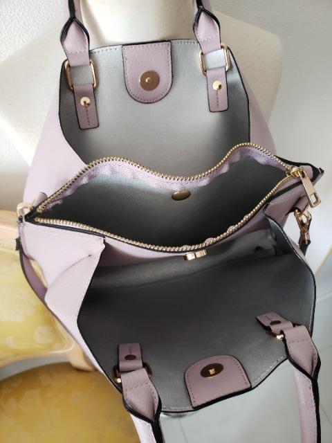 本革♪新品!オトナラベンダーカラーの2WAYバッグ