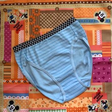 ティーンズ ブルー&ボーダーバックプリント ショーツ 150