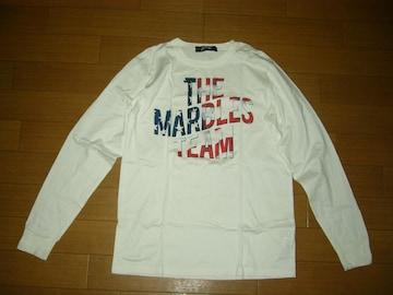 MARBLESマーブルズ ロンTシャツ S白 カットソーLOGOロゴ TMT
