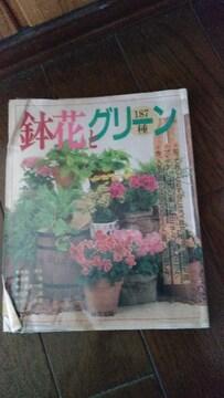 鉢花とグリーン定価1700古い本焼け汚れ折れあり